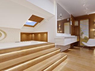 Dom z widokiem MG Projekt Projekty Domów Modern bathroom