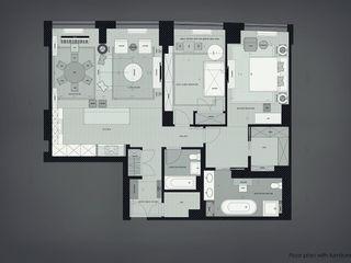2 bedroom apartment. New York KAPRANDESIGN Окна и двери в эклектичном стиле Дерево Серый