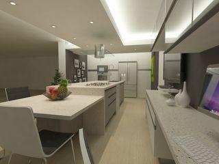 OPFA Diseños y Arquitectura Kitchen Wood-Plastic Composite Grey