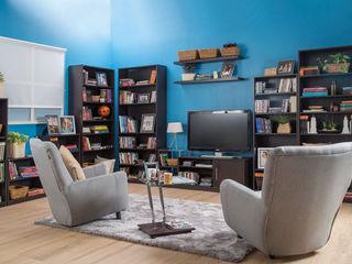 Idea Interior ห้องนั่งเล่นชั้นวางทีวีและตู้วางทีวี