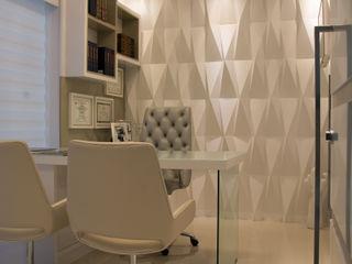 CONSULTÓRIO MÉDICO Graça Brenner Arquitetura e Interiores Escritório e loja Concreto Branco