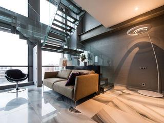 Просто квартира Хандсвел Гостиная в стиле лофт Алюминий / Цинк Серый