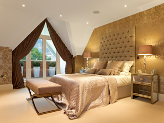 Bedrooms Gracious Luxury Interiors Modern style bedroom Amber/Gold