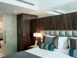 Bedrooms Gracious Luxury Interiors Modern style bedroom Blue