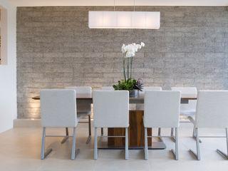 Kitchen & Dining Gracious Luxury Interiors Minimalist dining room White