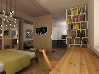 Dstudio.M ห้องนอน ไม้ Beige
