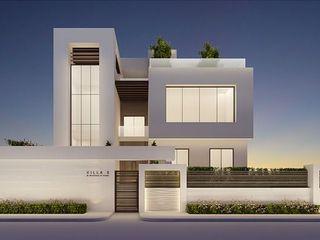 Elegant Modern Exterior Design Ideas IONS DESIGN Minimalist house Limestone White
