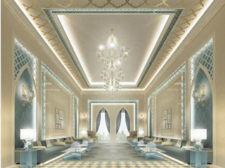 Majlis Design in Contemporary Flair IONS DESIGN Living room Marble