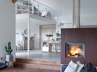 White Kitchen Designer Kitchen by Morgan Salones modernos Blanco