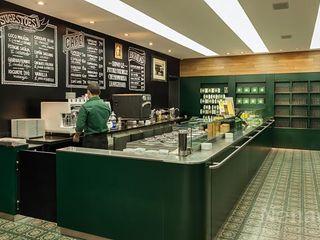 Riskalla & Mueller Arquitetura e Interiores Bares y clubs de estilo moderno Aluminio/Cinc Verde