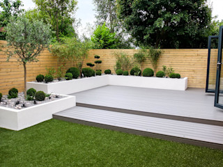 Small, low maintenance garden Yorkshire Gardens Сад Дерево-пластичний композит