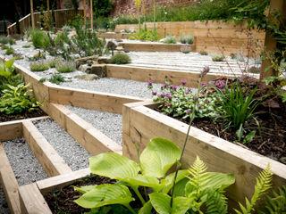 Modern Garden with a rustic twist Yorkshire Gardens Сад