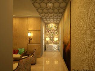 Entrance Lobby Shreya Bhimani Designs Modern Corridor, Hallway and Staircase
