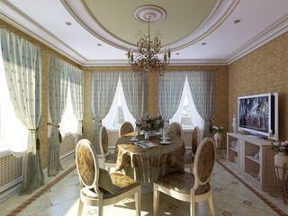 Design studio of Stanislav Orekhov. ARCHITECTURE / INTERIOR DESIGN / VISUALIZATION. Salle à manger classique