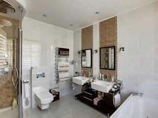 Design studio of Stanislav Orekhov. ARCHITECTURE / INTERIOR DESIGN / VISUALIZATION. Salle de bain moderne