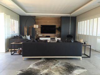 Margaret Berichon Design Modern Living Room Solid Wood Grey