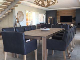 Margaret Berichon Design Modern Dining Room Solid Wood Grey