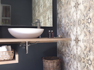 Margaret Berichon Design Modern Bathroom Solid Wood Grey