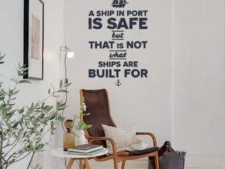 A Ship in Port is Safe But... Pixers İskandinav Çalışma Odası Mavi