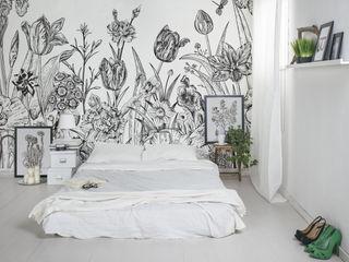 Spring Flowers Pixers Habitaciones de estilo rústico Negro