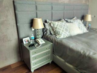 Estilo en muebles DormitoriosCamas y cabeceras Sintético Gris