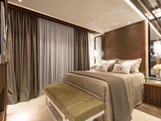 Designer de Interiores e Paisagista Iara Kílaris Cuartos de estilo moderno Marrón