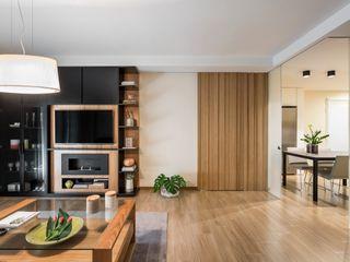 Laura Yerpes Estudio de Interiorismo Scandinavian style living room Wood Wood effect