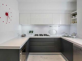 Laura Yerpes Estudio de Interiorismo Eclectic style kitchen Grey