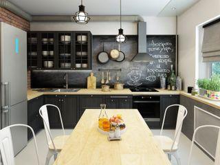 ДизайнМастер Industrial style kitchen Black