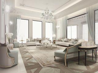 Italian Glam Living Room Design IONS DESIGN Living room Wood Multicolored