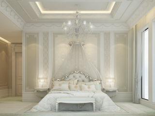 Bedroom Design in Soft and Restful Scheme IONS DESIGN Minimalist bedroom Marble Beige
