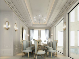 Gorgeous Dining Room Design IONS DESIGN Mediterranean style dining room Marble Blue