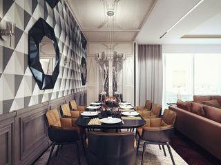 D&N KAPRANDESIGN Столовая комната в эклектичном стиле Дерево Коричневый
