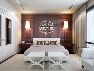 D&N KAPRANDESIGN Спальня в эклектичном стиле Дерево Коричневый