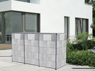 Mülltonnenbox ToPaBox Rollomeister GartenZäune und Sichtschutzwände Aluminium/Zink