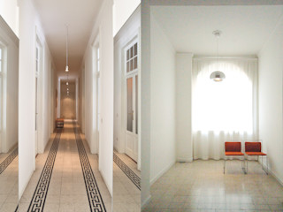 Fabio Azzolina Architetto Couloir, entrée, escaliers originaux