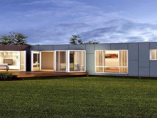Casa prefabricadas Construcciones F. Rivaz Casas prefabricadas Compuestos de madera y plástico Marrón