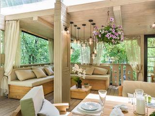 Tony House Interior Design & Decoration Industriële balkons, veranda's en terrassen