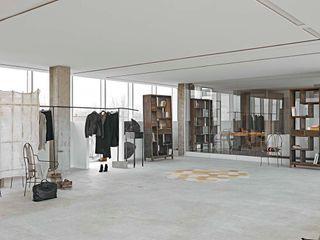 Opera s.r.l. Pasillos, vestíbulos y escaleras modernos