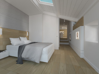 DomECO Modern style bedroom Wood White