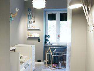 Child Room Pink Pug Design Interior Chambre d'enfant scandinave Bois Gris