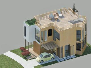 ECO - residencia Loft estudio C.A. Casas de estilo minimalista Madera Acabado en madera