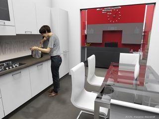 ArchitetturaTerapia® 現代廚房設計點子、靈感&圖片 White