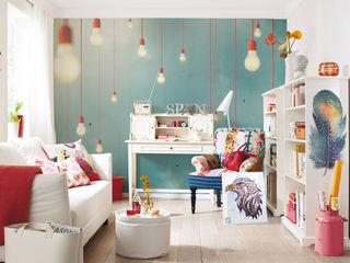 Hanging Lamps Pixers Ruang Keluarga Gaya Eklektik Multicolored