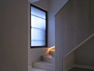 Nutley Terrace Belsize Architects Modern corridor, hallway & stairs