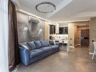Bellarte interior studio Ruang Keluarga Minimalis Grey