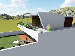 Vivienda RyML ESTUDIOMORENATE Balcones y terrazas de estilo mediterráneo