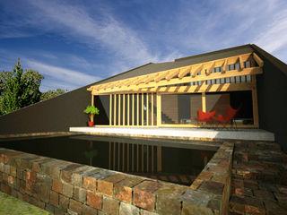 AHA! Arquitectura Balcones y terrazas modernos Piedra Negro