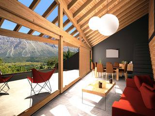 AHA! Arquitectura Livings de estilo moderno Madera Negro