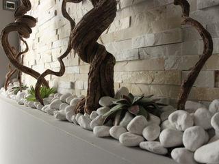 Officina design 現代風玄關、走廊與階梯 石器 Grey